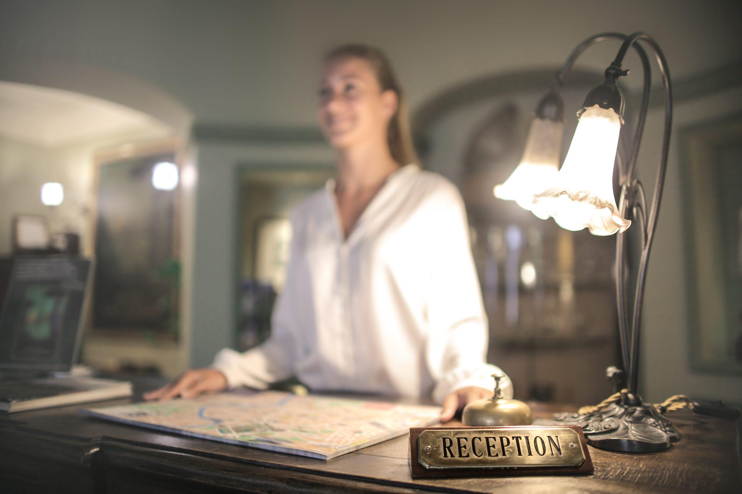 wymiary recepcji w hotelu